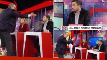 El tenso momento de Guillermo Moreno y Martín Tetaz en un programa de TV (Fotos: Captura)