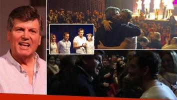 Carlín Calvo visitó El otro lado de la cama con su hijo. Fotos: Twitter y archivo Web.