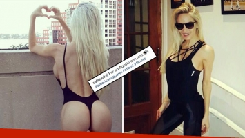 La foto súper hot de Luciana Salazar en malla colaless: