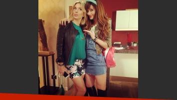 Carla Peterson y Griselda Siciliani en la grabación de Educando a Nina.  (Foto: Instagram)