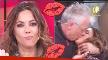 El tremendo beso de Gerardo Romano a Pía Shaw en Infama (Fotos: Captura)