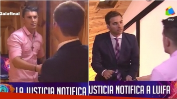 Luifa fue notificado en el ático de Gran Hermano 2016 (Fotos: Captura)