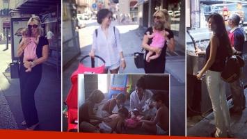 Zaira y Wanda Nara pasearon por las calles de Milán. Foto: Instagram