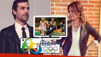 Pedro y los divertidos comentarios de Paula Chaves mientras miraban un partido de handball (Foto: Twitter)