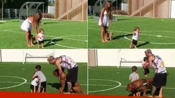 El video súper tierno del hijo menor de Messi aprendiendo a caminar (Foto: Instagram)