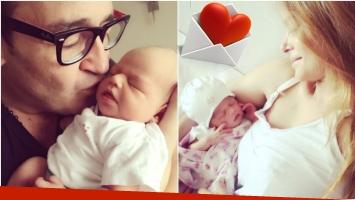 El tierno agradecimiento de Vanina Escudero a su marido tras dar a luz a su segunda hija (Fotos: Instagram)