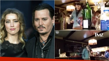 La violenta reacción de Johnny Deep con Amber Heard. Foto: Web