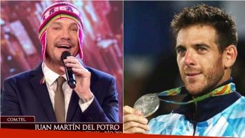 Juan Martín del Potro festejó en ShowMatch su medalla de plata en Rio 2016