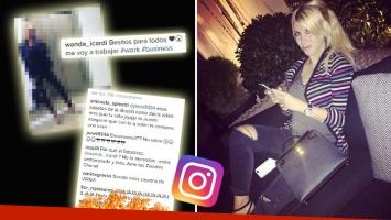 Wanda Nara y la foto de la polémica por el presunto exceso de Photoshop. (Foto: Instagram)