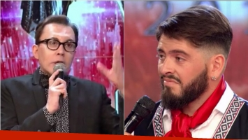 Picante devolución de Polino a Diego Maradona Jr en Bailando 2016. Foto: Captura