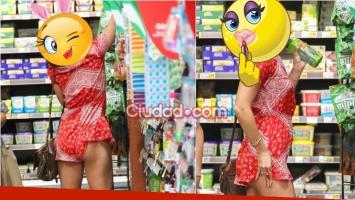 La famosa que mostró de más mientras hacía las compras. Foto: Grosby Group