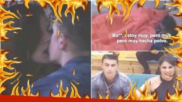 Mirá el momento súper hot de Ivana y Luifa bajo las sábanas en GH. Foto: Captura