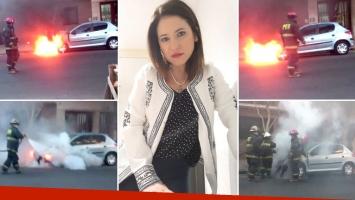 El mal momento de Fernanda Iglesias: el video con los bomberos
