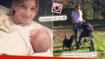 Las tiernas fotos de Marcela Kloosterboer y su beba Juana. (Foto: Instagram