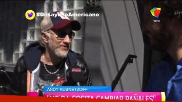 Andy Kusnetzoff habló de sus primeros días como papá y su reconciliación con Pergolini.