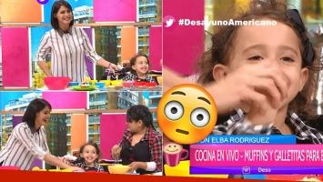 El divertido momento de Pamela David con su hija en TV (Foto: Web)