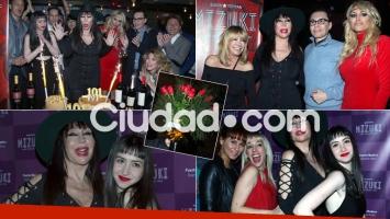Las fotos del divertido cumpleaños de Moria Casán (Foto: Movilpress)