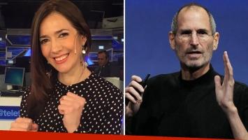 Cristina Pérez confundió a Steve Jobs de joven con la foto de un actor. (Foto: Web)