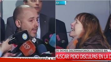 Una mujer escrachó a José María Muscari en la DAIA por sus dichos