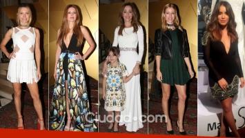 Muchas famosas top en la presentación de la colección de Verónica Lozano. Fotos: Movilpress y Web