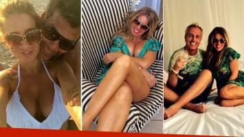 Las postales de las divertidas vacaciones de Florencia Peña con su novio y Marley