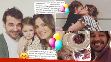 La hija de Paula Chaves y Pedro Alfonso cumplió tres años (Foto: Instagram)