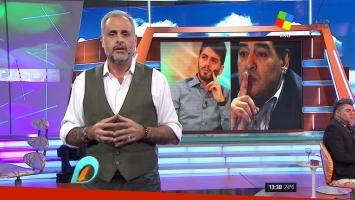 Jorge Rial celebró el encuentro entre Maradona y Diego Junior