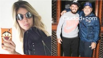 La catarata de tweets de Dalma Maradona tras el reencuentro de Maradona con Diego Junior (Fotos: Web y Ciudad.com)