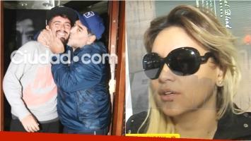 La opinión de Verónica Ojeda tras el reencuentro de Maradona con Diego Junior (Fotos: Ciudad.com y Captura)