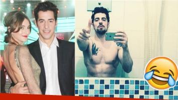 La foto sexy de Esteban Lamothe y su divertido blooper (Fotos: Web e Instagram)