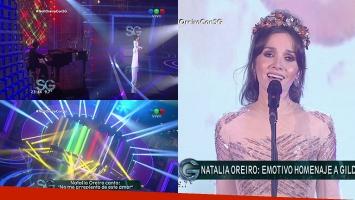 Natalia Oreiro homenajeó a Gilda en el programa de Susana.