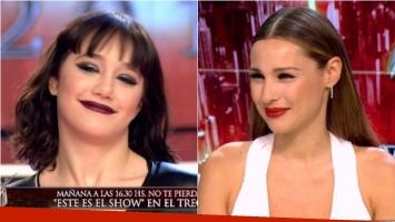 El tenso momento de Pampita con Ángela Torres en ShowMatch. Foto: Captura