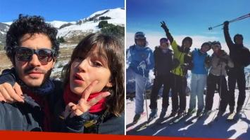 Chino Darín y Úrsula Corberó, parejita top en Bariloche: