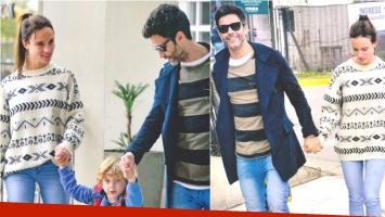 La salida familiar de Mariano Martínez con su flamante novia y su hijo menor (Fotos: revista Gente)