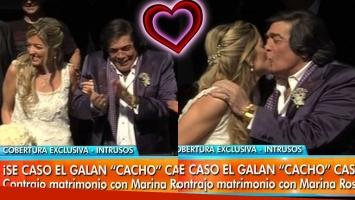 ¡La tercera es la vencida! A los 74 años, Cacho Castaña se casó con Marina Rosenthal.