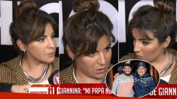 La tensa nota de Gianinna Maradona en la presentación de su marca (Foto: Web)