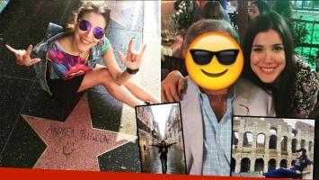 Andrea Rincón dejó su huella en el Paseo de la Fama de Hollywood y luego se encontró con una leyenda en Roma. (Foto: Instagram)