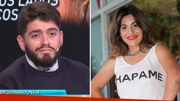 La reacción de Diego Junior ante el pedido de disculpas de Gianinna Maradona