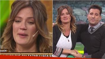 Las lágrimas de Paula Chaves al despedirse de Este es el show para dar a luz