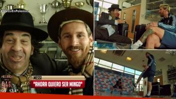 Lionel Messi y su encuentro con Minguito.