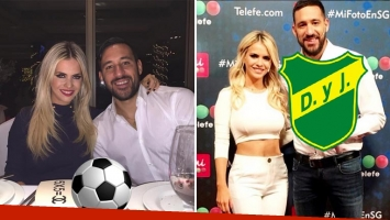 Alejandra Maglietti, feliz con la confirmación de que Jonás Gutierréz jugará en Defensa y Justicia y podrán convivir. (Foto: Web)