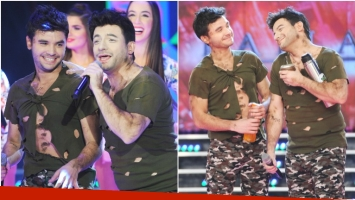 La divertida imitación de Sebastián Almada a Agustín de Márama en ShowMatch (Fotos: Prensa Ideas del Sur)