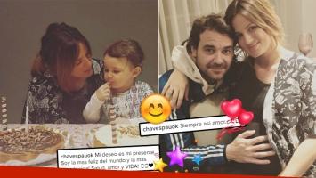 Paula Chaves y su festejo íntimo de cumpleaños junto a Pedro Alfonso y Olivia (Foto: Instagram)