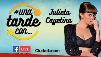 Julieta Cayetina en #UnaTardeCon, por Facebook Live.