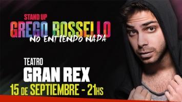 Ganá entradas para ver a Grego Rossello en el Gran Rex.