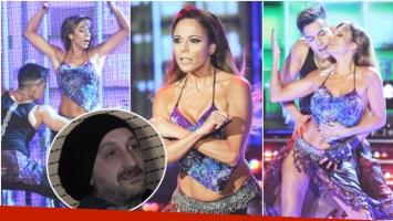 El regaettón de Iliana Calabró en ShowMatch y la reacción de su novio (Fotos: Prensa Ideas del Sur y Captura)