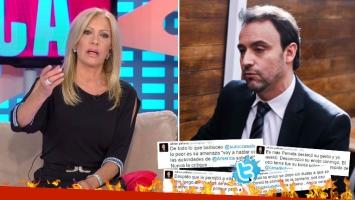 """¡Periodistas en guerra! Roccasalvo ninguneó y trató de """"segundo"""" a Pallares en TV… ¡y él contraatacó súper picante desde Twitter!"""