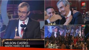 Nelson Castro se alzó con el Martín Fierro de Oro de Cable. Foto: Captura