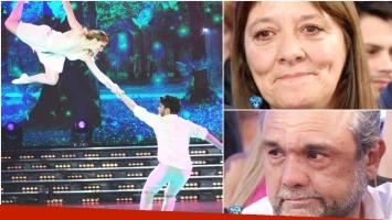 Agustín de Márama emocionó a sus papás en ShowMatch (Fotos: Prensa Ideas del Sur y Captura)