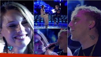 El Polaco le cantó una canción romántica a Pampita en ShowMatch. Foto: Captura